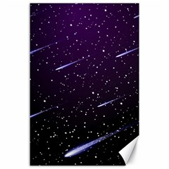 Starry Night Sky Meteor Stock Vectors Clipart Illustrations Canvas 24  X 36  by Mariart