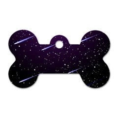 Starry Night Sky Meteor Stock Vectors Clipart Illustrations Dog Tag Bone (two Sides) by Mariart