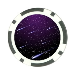 Starry Night Sky Meteor Stock Vectors Clipart Illustrations Poker Chip Card Guard by Mariart