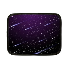 Starry Night Sky Meteor Stock Vectors Clipart Illustrations Netbook Case (small)