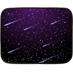 Starry Night Sky Meteor Stock Vectors Clipart Illustrations Double Sided Fleece Blanket (mini)  by Mariart
