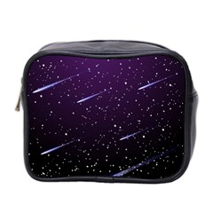 Starry Night Sky Meteor Stock Vectors Clipart Illustrations Mini Toiletries Bag 2 Side by Mariart