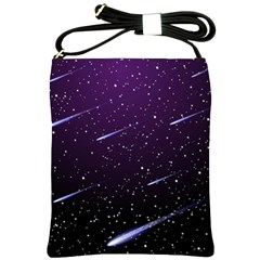 Starry Night Sky Meteor Stock Vectors Clipart Illustrations Shoulder Sling Bags by Mariart