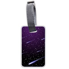 Starry Night Sky Meteor Stock Vectors Clipart Illustrations Luggage Tags (two Sides) by Mariart