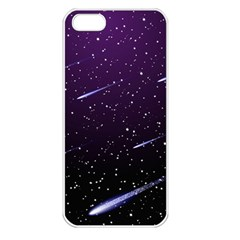 Starry Night Sky Meteor Stock Vectors Clipart Illustrations Apple Iphone 5 Seamless Case (white) by Mariart
