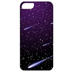 Starry Night Sky Meteor Stock Vectors Clipart Illustrations Apple Iphone 5 Classic Hardshell Case by Mariart