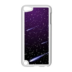 Starry Night Sky Meteor Stock Vectors Clipart Illustrations Apple Ipod Touch 5 Case (white) by Mariart