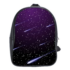 Starry Night Sky Meteor Stock Vectors Clipart Illustrations School Bags (xl)  by Mariart