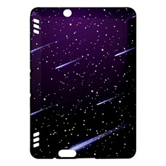 Starry Night Sky Meteor Stock Vectors Clipart Illustrations Kindle Fire Hdx Hardshell Case by Mariart