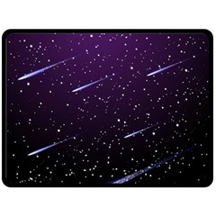 Starry Night Sky Meteor Stock Vectors Clipart Illustrations Double Sided Fleece Blanket (large)  by Mariart