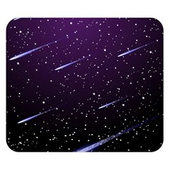 Starry Night Sky Meteor Stock Vectors Clipart Illustrations Double Sided Flano Blanket (small)  by Mariart