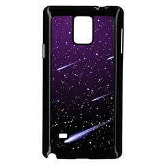 Starry Night Sky Meteor Stock Vectors Clipart Illustrations Samsung Galaxy Note 4 Case (black) by Mariart