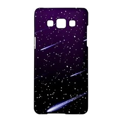 Starry Night Sky Meteor Stock Vectors Clipart Illustrations Samsung Galaxy A5 Hardshell Case  by Mariart