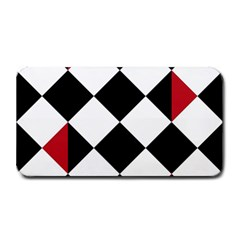 Survace Floor Plaid Bleck Red White Medium Bar Mats by Mariart
