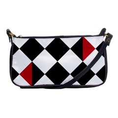Survace Floor Plaid Bleck Red White Shoulder Clutch Bags by Mariart