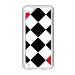 Survace Floor Plaid Bleck Red White Apple Ipod Touch 5 Case (white) by Mariart