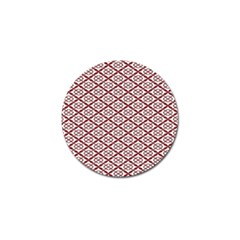 Pattern Kawung Star Line Plaid Flower Floral Red Golf Ball Marker (4 Pack) by Mariart