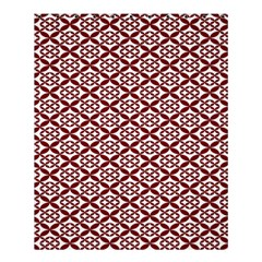 Pattern Kawung Star Line Plaid Flower Floral Red Shower Curtain 60  X 72  (medium)  by Mariart