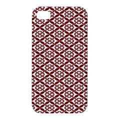 Pattern Kawung Star Line Plaid Flower Floral Red Apple Iphone 4/4s Premium Hardshell Case by Mariart