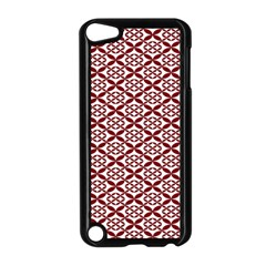 Pattern Kawung Star Line Plaid Flower Floral Red Apple Ipod Touch 5 Case (black) by Mariart