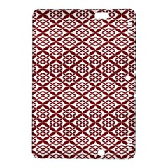 Pattern Kawung Star Line Plaid Flower Floral Red Kindle Fire Hdx 8 9  Hardshell Case by Mariart