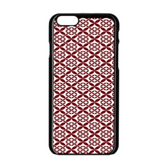 Pattern Kawung Star Line Plaid Flower Floral Red Apple Iphone 6/6s Black Enamel Case by Mariart
