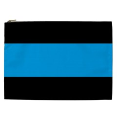Tomboy Playboy Flag Blue Black Mline Cosmetic Bag (xxl)  by Mariart