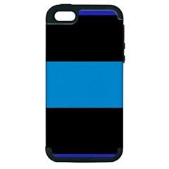 Tomboy Playboy Flag Blue Black Mline Apple Iphone 5 Hardshell Case (pc+silicone) by Mariart