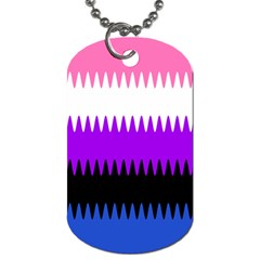 Sychnogender Techno Genderfluid Flags Wave Waves Chevron Dog Tag (two Sides) by Mariart