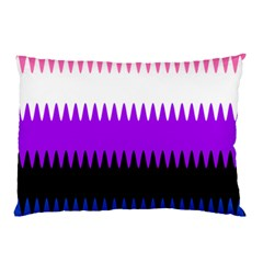 Sychnogender Techno Genderfluid Flags Wave Waves Chevron Pillow Case by Mariart