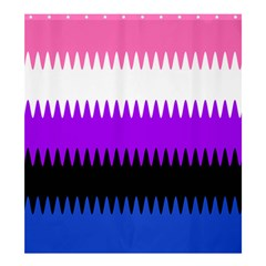 Sychnogender Techno Genderfluid Flags Wave Waves Chevron Shower Curtain 66  X 72  (large)  by Mariart