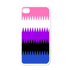 Sychnogender Techno Genderfluid Flags Wave Waves Chevron Apple Iphone 4 Case (white) by Mariart