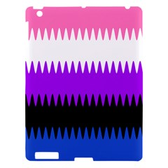 Sychnogender Techno Genderfluid Flags Wave Waves Chevron Apple Ipad 3/4 Hardshell Case by Mariart