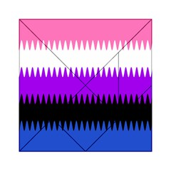 Sychnogender Techno Genderfluid Flags Wave Waves Chevron Acrylic Tangram Puzzle (6  X 6 ) by Mariart