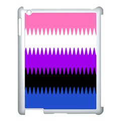 Sychnogender Techno Genderfluid Flags Wave Waves Chevron Apple Ipad 3/4 Case (white) by Mariart