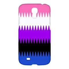 Sychnogender Techno Genderfluid Flags Wave Waves Chevron Samsung Galaxy S4 I9500/i9505 Hardshell Case by Mariart