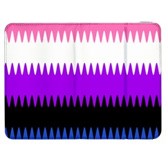 Sychnogender Techno Genderfluid Flags Wave Waves Chevron Samsung Galaxy Tab 7  P1000 Flip Case by Mariart