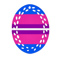 Transgender Flags Oval Filigree Ornament (two Sides) by Mariart