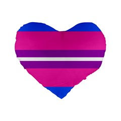 Transgender Flags Standard 16  Premium Flano Heart Shape Cushions by Mariart