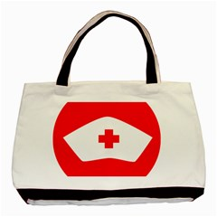 Tabla Laboral Sign Red White Basic Tote Bag by Mariart