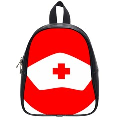 Tabla Laboral Sign Red White School Bags (small)  by Mariart