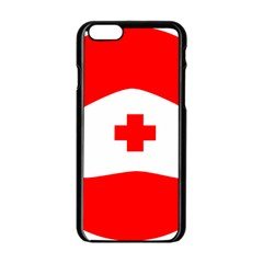 Tabla Laboral Sign Red White Apple Iphone 6/6s Black Enamel Case by Mariart
