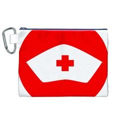 Tabla Laboral Sign Red White Canvas Cosmetic Bag (xl) by Mariart
