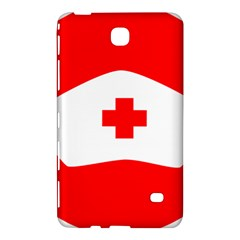 Tabla Laboral Sign Red White Samsung Galaxy Tab 4 (8 ) Hardshell Case  by Mariart