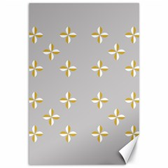 Syrface Flower Floral Gold White Space Star Canvas 12  X 18   by Mariart