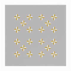 Syrface Flower Floral Gold White Space Star Medium Glasses Cloth (2 Side) by Mariart