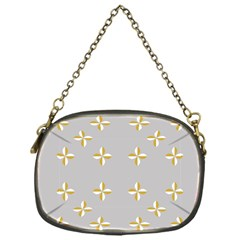 Syrface Flower Floral Gold White Space Star Chain Purses (one Side)  by Mariart