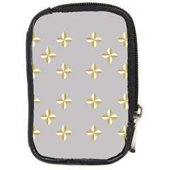 Syrface Flower Floral Gold White Space Star Compact Camera Cases by Mariart