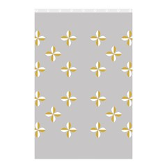 Syrface Flower Floral Gold White Space Star Shower Curtain 48  X 72  (small)  by Mariart