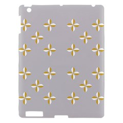 Syrface Flower Floral Gold White Space Star Apple Ipad 3/4 Hardshell Case by Mariart